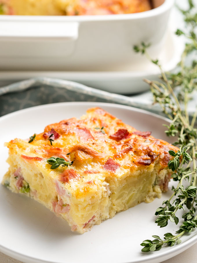 Ham, Egg and Cheese Breakfast Casserole - Plated | The Worktop