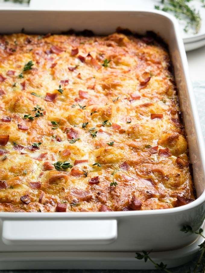 Ham and Cheese Breakfast Casserole | The Worktop