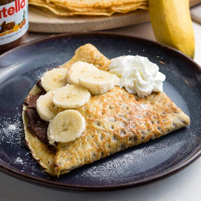 Banana Nutella Crepes - the best recipe | The Worktop