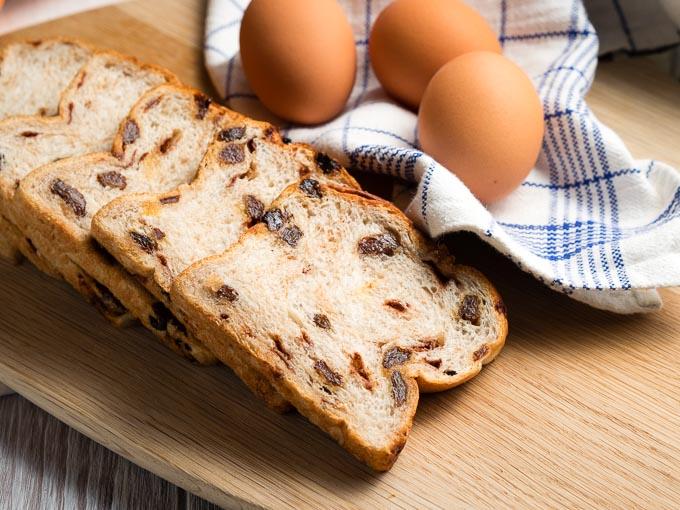 Cinnamon Raisin Bread Slices | The Worktop