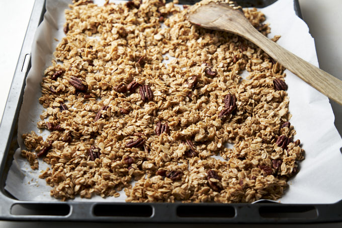 Granola Recipe with Honey - on pan | The Worktop