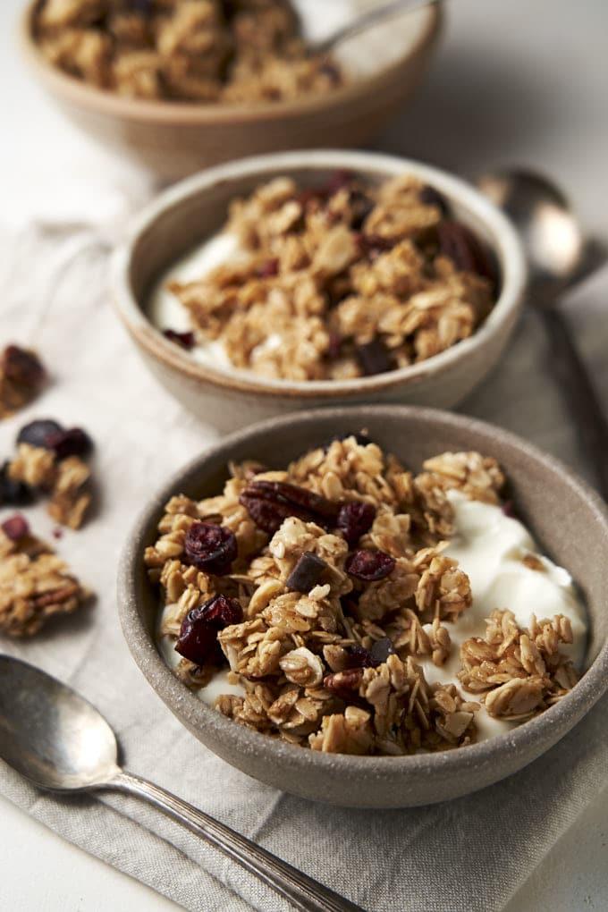 Homemade Granola with Honey - served with yogurt | The Worktop