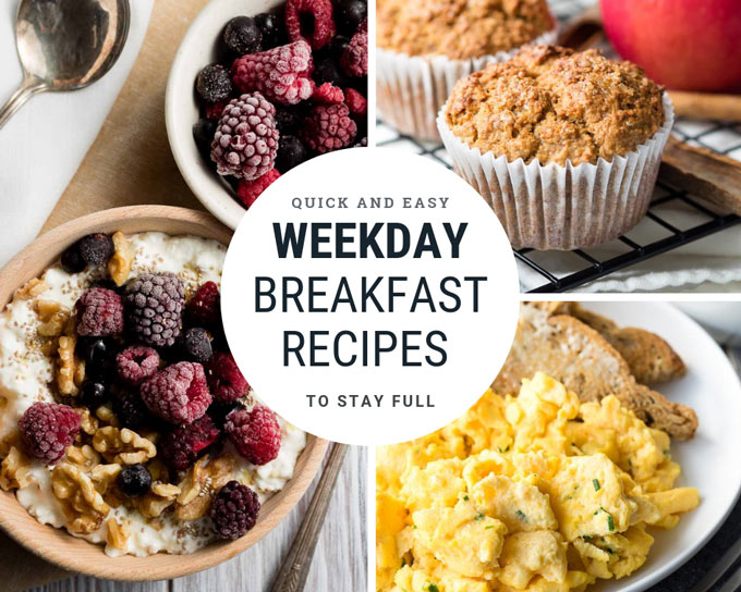Weekday Breakfast Recipes - Quick, healthy, easy | The Worktop