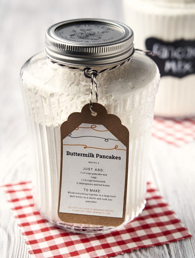 Homemade Pancake Mix - in jar | The Worktop