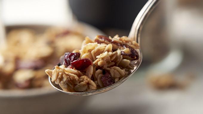 Honey Granola Recipe - on spoon | The Worktop