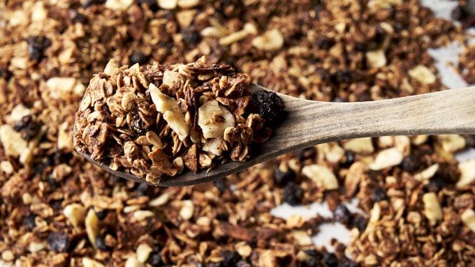 Nut Free Granola Recipe - on baking pan | The Worktop