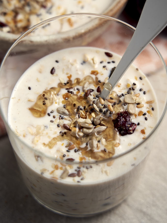 Overnight Oats with Yogurt - in glass | The Worktop
