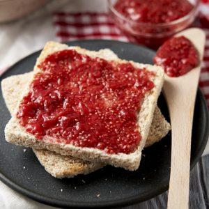 Strawberry Chia Jam Recipe - served on toast | The Worktop