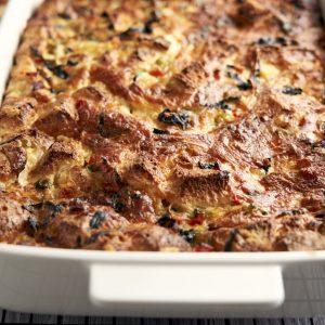 Vegetarian Breakfast Casserole Recipe - Closeup | The Worktop