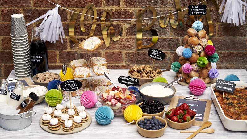 Baby Shower Brunch - Food and menu ideas set on table   The Worktop