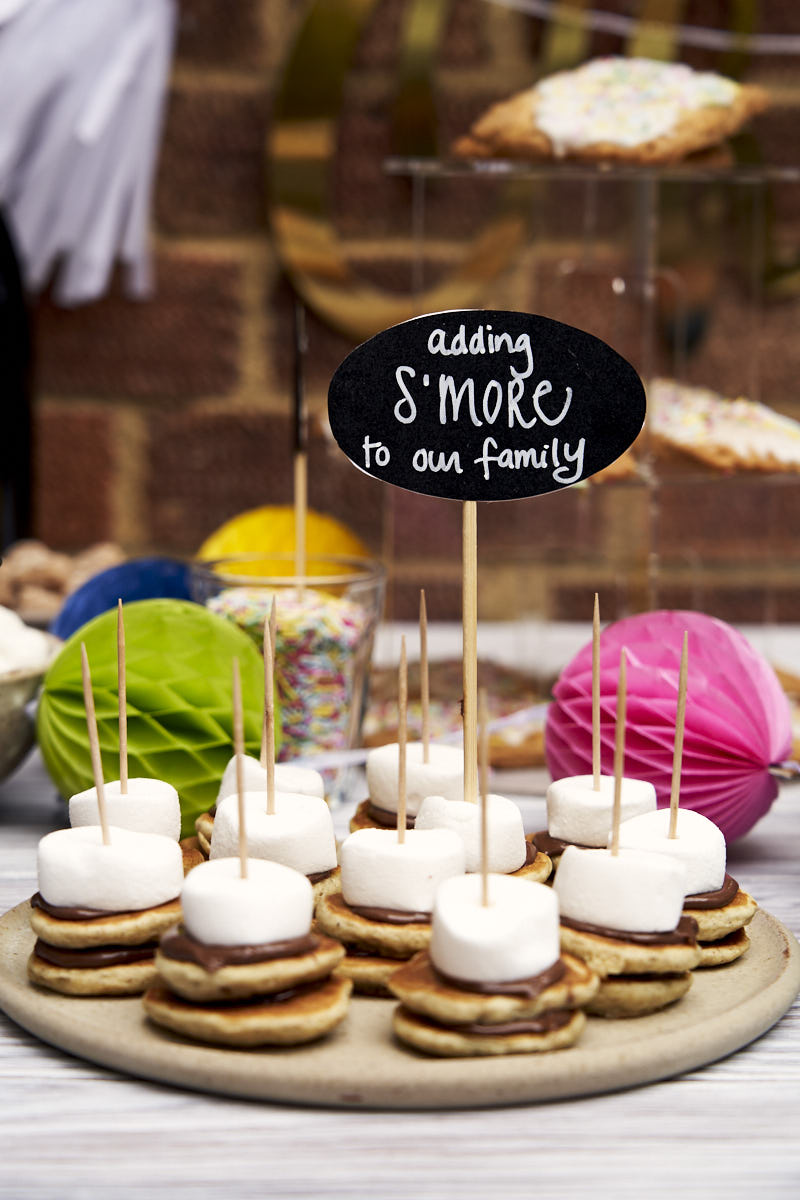Baby Shower Brunch Table - S'mores pancake idea   The Worktop