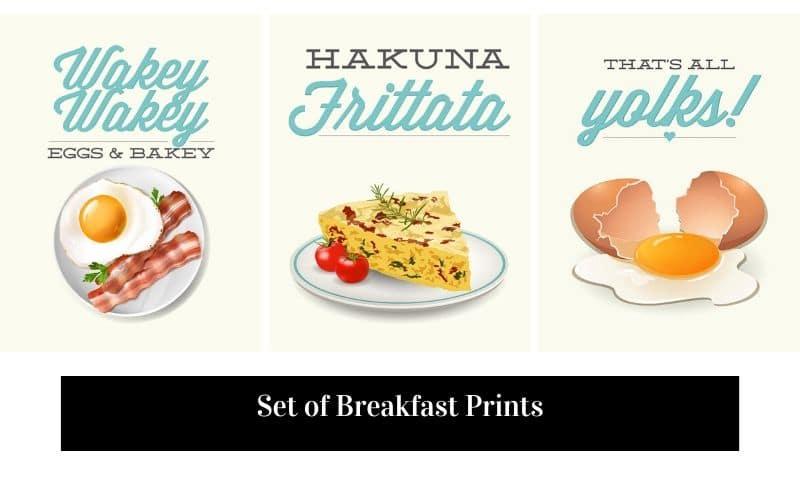 Set of Etsy Breakfast Prints