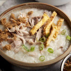 Chicken Congee Slow Cooker Recipe - Closeup | The Worktop