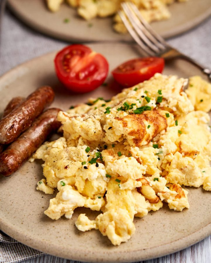 Cottage Cheese and Eggs Scramble - Plated for breakfast | The Worktop