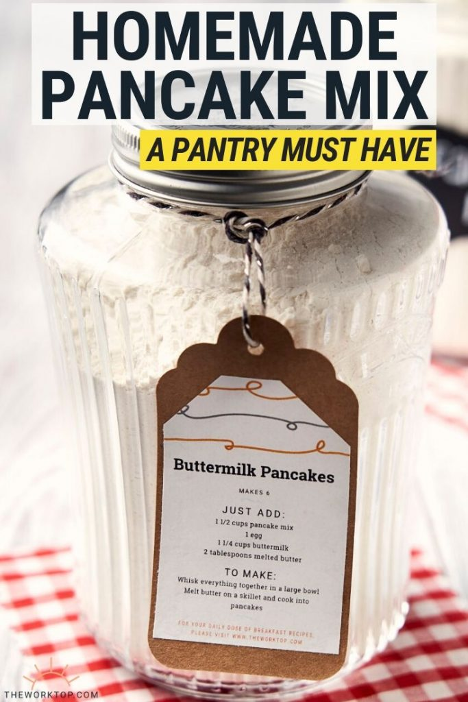 DIY Pancake Mix in Jar - Recipe - with text | The Worktop