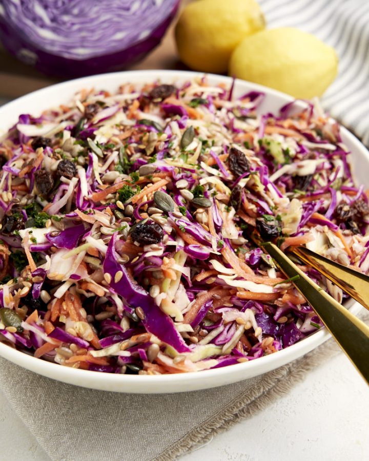 Healthy Coleslaw Recipe - made with no mayo | The Worktop