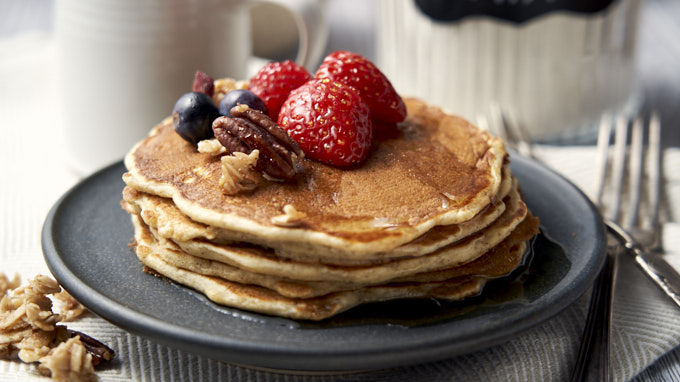 Homemade Buttermilk Pancakes - Easy Recipe - Plated | The Worktop