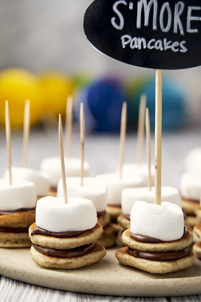 Mini Nutella Pancakes - with marshmallow and skewers   The Worktop