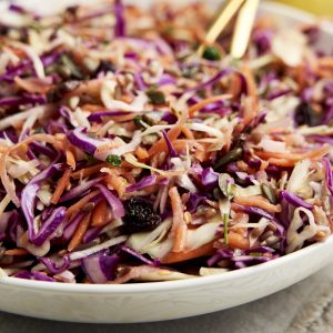 No Mayo Coleslaw Recipe - Close up | The Worktop