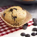 Vegan Chocolate Chip Recipe - single muffin   The Worktop