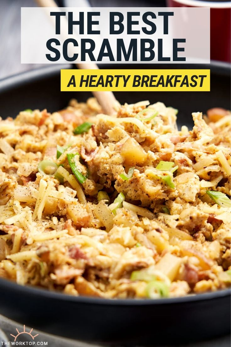 The best scramble - hearty breakfast - with text | The Worktop
